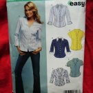 New Look Sewing Pattern # 6407 UNCUT Misses Blouse Size 10 12 14 16 18 20