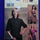 Vogue Pattern # 7694 UNCUT Misses Tunic & Blouse Size Medium