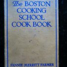Vintage 1944 Boston Cooking School Cookbook Fannie Farmer Recipes