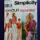 Simplicity Pattern # 9518 UNCUT Misses Wardrobe Top Pants Shorts Jacket Size XS Small Medium