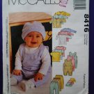 McCalls Pattern # 8416 UNCUT Baby Layette Wardrobe Size Small Medium Large XL