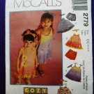 McCalls Pattern # 2779 UNCUT Girls Dress Top Panties Size 2 3 4