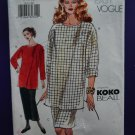 Vogue Pattern # 7336 UNCUT Top Skirt Size 8 10 12