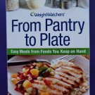 Weight Watchers From Pantry to Plate Cookbook Easy Meals