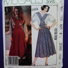 McCalls Pattern # 2681 UNCUT Misses Jumper & Blouse Size 14 Laura Ashley