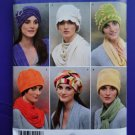 Simplicity Pattern # 2494 UNCUT Misses Fleece Hats All Sizes