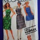 Vintage McCalls Pattern UNCUT Misses Summer Wrap Dress Top Small Medium Large