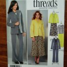 Simplicity Pattern # 1944 UNCUT Misses Threads Wardrobe Jacket Skirt Pants Size 8 10 12 14 16