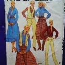 McCalls Pattern # 6937 UNCUT Misses Size 12 Shirt Vest Skirt Pants Western Style ~ Bust 34