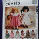 "McCalls Craft Pattern # 9207 UNCUT Doll Dress/ 6 Dresses 18"" Doll"