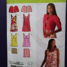 Simplicity Pattern # 2939 UNCUT Misses Mini Dress or Top, Shorts Jacket Size 4 6 8 10 12
