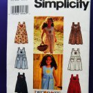 Simplicity Pattern # 7155 UNCUT Girls Dress/Jumper Size 5 6 7 8