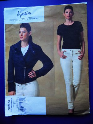 SOLD! Vogue Pattern # 2973 UNCUT Misses Motorcycle Jacket Jeans Size 10 12 14