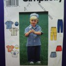 Simplicity Pattern # 7994 UNCUT Boys Toddler Wardrobe Size 2 3 4