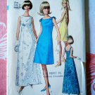 Simplicity Pattern # 7085 UNCUT Misses Long Summer Dress Size 14 Bust 34 Vintage 1967
