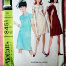 McCalls Pattern # 8451 UNCUT Misses MATURNITY Dress Size 10 Bust 31 Vintage 1966