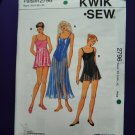 Kwik Sew Pattern # 2796 UNCUT Misses Leotard With Attached Skirt
