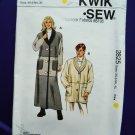 Kwik Sew Pattern # 2825 UNCUT Misses Coat Long Short Size XS Small Medium Large XL