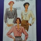 Vogue Pattern # 8423 UNCUT Misses Blouse Size 8 10 12
