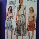 Vogue Pattern # 7302 UNCUT Misses Fancy Flared Skirt Size 14 16 18