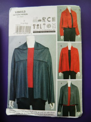 Vogue Pattern # 8653 UNCUT Misses Jacket Wearable Art Marcy Hilton Size Large XL