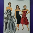 Vogue Pattern # 9758 UNCUT Misses Formal Dress Variations Size 14 16 18