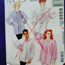 McCalls Pattern # 6333 UNCUT Misses Blouses Variations Size Small Medium Large