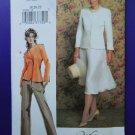 Vogue Pattern # 7859 UNCUT Misses Lined Jacket Pants Skirt Size 18 20 22