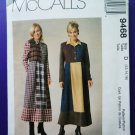 McCalls Pattern # 9468 UNCUT Misses Color Blocked Dress Size 12 14 16