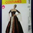 McCalls Pattern # 6343 UNCUT Misses Costume Renaissance Costume Long Skirt Corset Size 14 16 18 20