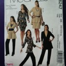 McCalls Pattern # 6247 UNCUT Misses Wardrobe STRETCH KNITS ONLY Size 6 8 10 12 14