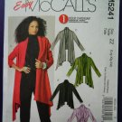 McCalls Pattern # 5241 UNCUT Misses Stretch Knit Cardigan 3 Lengths Size Large XL XXL