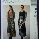 McCalls Pattern # 9518 UNCUT Misses Dress With Blocking Size 16 18 (Large)