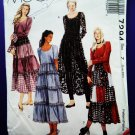 McCalls Pattern # 7294 UNCUT Misses Dress Tiered Skirt Size Large XL