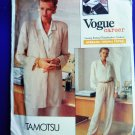 Vogue Pattern # 2338 UNCUT Misses Jacket Shirt Pants Size 20 22 24 TAMOTSU