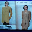 Vogue Pattern # 2831 UNCUT Misses Jacket Calvin Klein Size 18 20 22