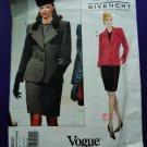 Vogue Pattern # 1837 UNCUT Misses Jacket Top Skirt GIVENCHY Size 8 10 12