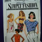 Simplicity Pattern # 9627 UNCUT Summer Top/Tops Size 16 18 20 22 24