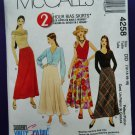 McCalls Pattern # 4258 UNCUT Misses Skirt Variations Size 12 14 16 18