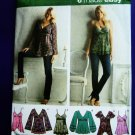 Simplicity Pattern # 3956 UNCUT Misses Variations on Tops Size 12 14 16 18 20