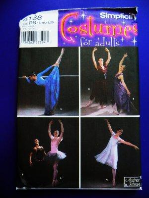 SOLD! Simplicity Pattern # 5138 UNCUT Misses Ballet Tutu Costume Size 14 16 18 20