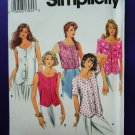 Simplicity Pattern # 8374 UNCUT Misses Summer Blouse Variations Size 6 8 10