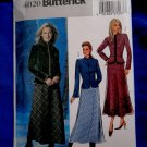 Butterick Pattern # 4020 UNCUT Misses Jacket Skirt Size 20 22 24