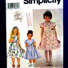 Simplicity Pattern # 8610 UNCUT Girls Dress Size 3 4 5 6