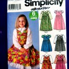 Simplicity Pattern # 5319 UNCUT Girls Dress Top Size 3 4 5 6