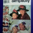 Simplicity Pattern # 8268 UNCUT Misses  Girls HATS Beret Crusher Sun Baseball Cap