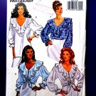 Butterick Pattern # 6803 UNCUT Misses Fancy Ruffled Blouse Size 12 14 16