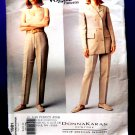 Vogue Pattern # 1981 UNCUT Misses Jacket Pants Donna Karan DKNY Size 8 10 12