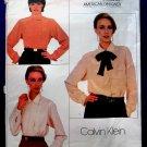 Vogue Pattern # 1025 UNCUT Misses Blouses Calvin Klein Size 6 8 10