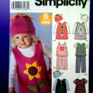 Simplicity Pattern # 5317 Girls Dress Top Pants Size ½ 1 2 3 4